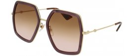Sunglasses - Gucci - GG0106S - 004 VIOLET GOLD // BROWN GRADIENT