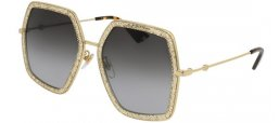 Sunglasses - Gucci - GG0106S - 005 GOLD GLITTER // GREY GRADIENT