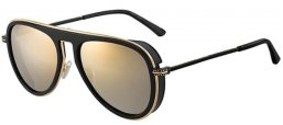Sunglasses - Jimmy Choo - CARL/S - 807 (K1) BLACK // GOLD MIRROR