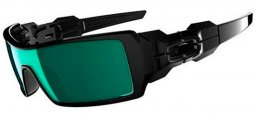 Gafas de Sol - Oakley - OO9081 OIL RIG UPDATE - 26-249 POLISHED BLACK // EMERALD IRIDIUM