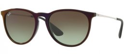 Sunglasses - Ray-Ban® - Ray-Ban® RB4171 ERIKA - 6316E8 BLACK SP RED // GREEN GRADIENT BROWN