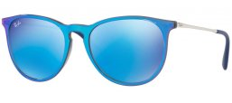 Sunglasses - Ray-Ban® - Ray-Ban® RB4171 ERIKA - 631855 GREY MIRROR FLASH BLUE // LIGHT GREEN MIRROR BLUE