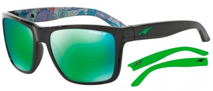 37ced40551 AN4177 WITCH DOCTOR - 22771I BLACK // DARK GREY POLARIZED MIRROR GREEN. Gafas  de Sol - Arnette ...