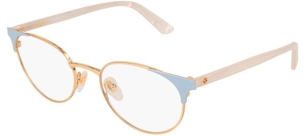 a2303adcb9 Monturas - Gucci - GG0247O - 004 GOLD BLUE WHITE