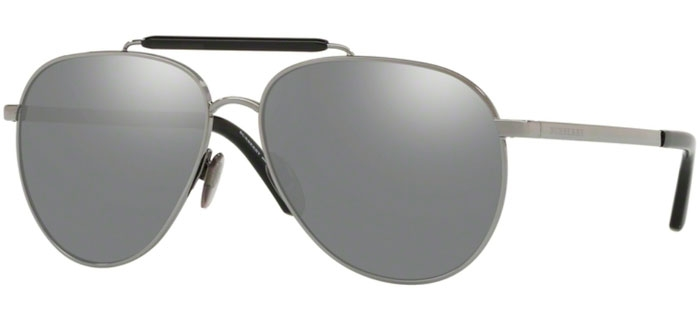 1101623cc3 Gafas de Sol - Burberry - BE3097 - 1003Z3 GUNMETAL // GREY MIRROR SILVER 80