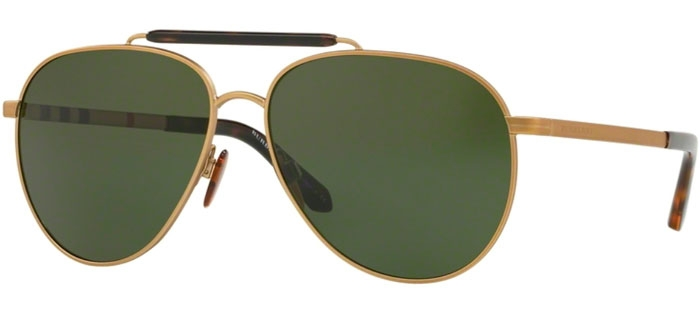 f192773793 Gafas de Sol - Burberry - BE3097 - 127171 MATTE LIGHT GOLD // GREEN