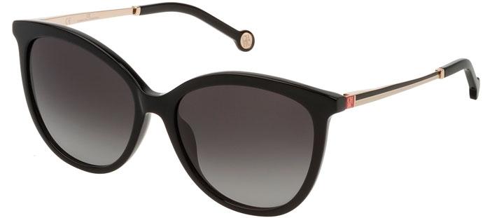 307e8531f5 Gafas de Sol - Carolina Herrera - SHE798 - 0700 SHINY BLACK // GREY GRADIENT