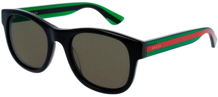 cc01902af7 Gafas de Sol - Gucci - GG0003S - 002 BLACK GREEN // GREEN