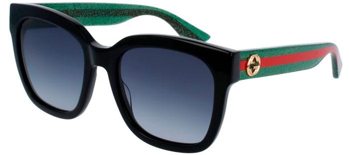 87f9e8b133 Gafas de Sol - Gucci - GG0034S - 002 BLACK GREEN // GREY GRADIENT
