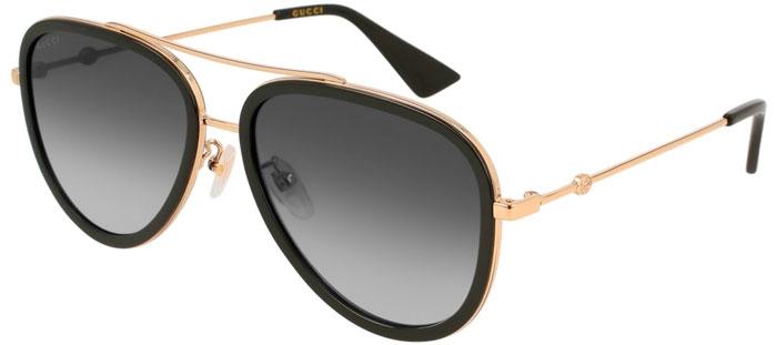 4c0cb99fb Gafas de Sol - Gucci - GG0062S - 007 BLACK GOLD // GREY