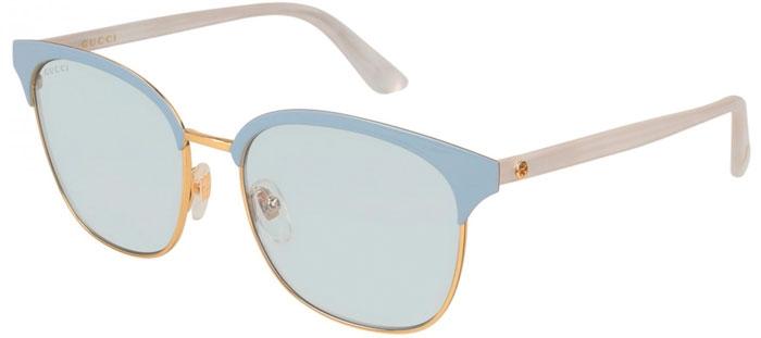 19aaf3e879 Gafas de Sol - Gucci - GG0244S - 004 GOLD BLUE WHITE // LIGHT BLUE