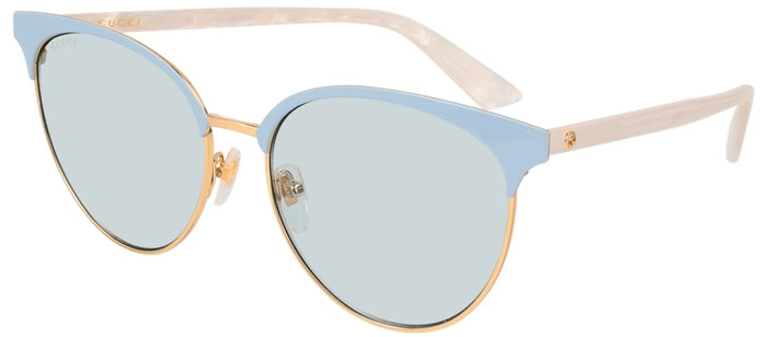 d82a73a575 Gafas de Sol - Gucci - GG0245S - 004 GOLD BLUE WHITE // LIGHT BLUE