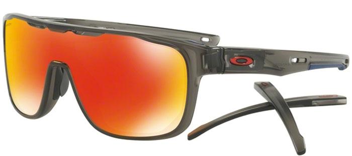 ee5e9980d Sunglasses Oakley CROSSRANGE SHIELD OO9387 938704 MATTE GREY SMOKE ...