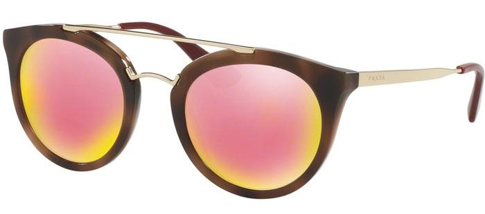 Gafas de Sol Prada SPR 23SS CINEMA USG5L2 STRIPED DARK BROWN    GREY ... 991e9f030719