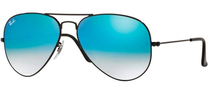 a35ec992db SHINY BLACK // MIRROR BLUE GRADIENT. Gafas de Sol - Ray-Ban® - Ray-Ban®  RB3025 AVIATOR LARGE