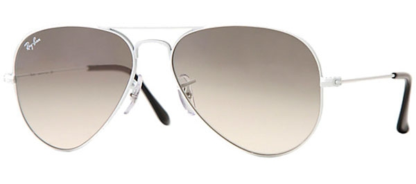 896e193c22de0 Sunglasses RayBan RB3025 AVIATOR LARGE METAL 032 32 WHITE METAL ...