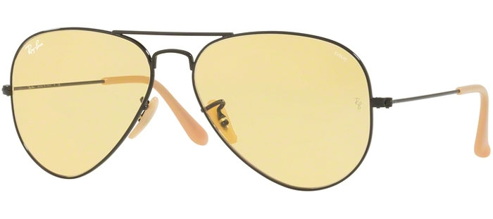 410e2bbb9c MATTE BLACK // PHOTOCROMIC YELLOW. Gafas de Sol - Ray-Ban® - Ray-Ban® RB3025  AVIATOR LARGE