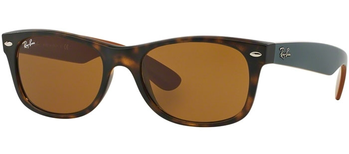 ray ban 2132  de Sol - Ray-Ban - RB2132 NEW WAYFARER - 6179 MATTE HAVANA // BROWN