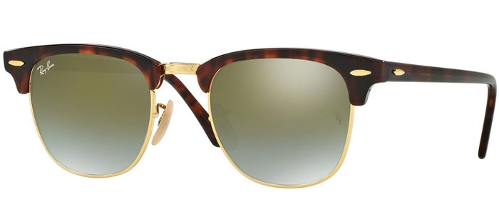 Green Rb3016 Clubmaster 9909j De Havana Shiny Ray Gradient Flash Sol Gafas Ban® Red J1c3lFTK