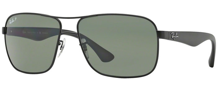 823af9a6c5e Sunglasses RayBan RB3516 006 9A MATTE BLACK    GREEN POLARIZED
