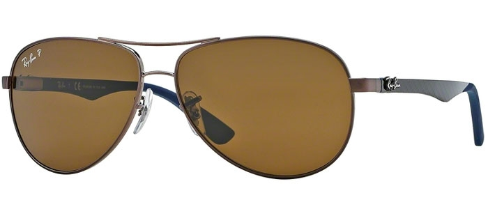 3bef594bcf9 Sunglasses RayBan RayBan RB8313 CARBON FIBRE 014 N6 BROWN    CRYSTAL ...