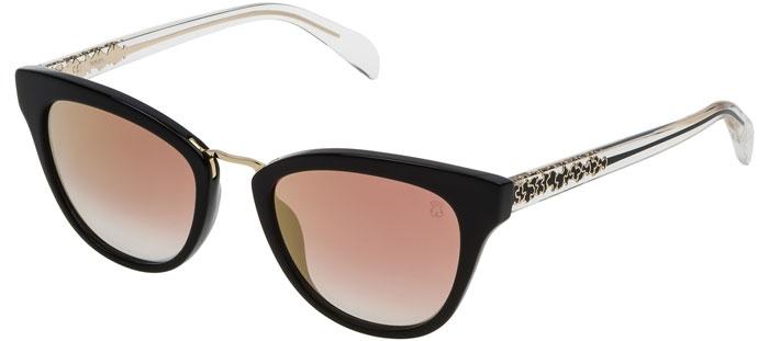 b6661edaf1 Gafas de Sol - Tous - STOA06 - 700G BLACK TRANSPARENT BLACK // VIOLET MIRROR