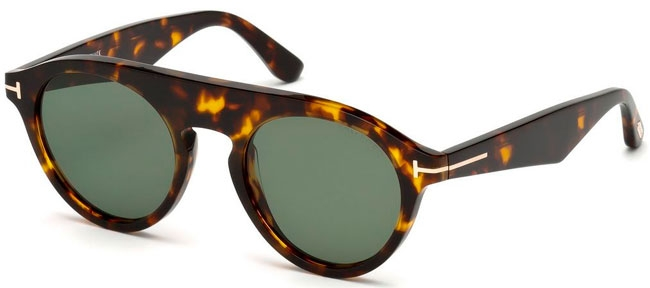 3adb2b0af0 Gafas de Sol Tom Ford CHRISTOPHER02 FT0633 52A DARK HAVANA // GREY GREEN