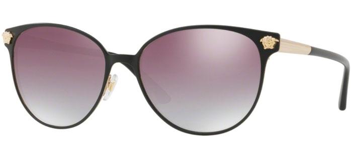 ... GRADIENT GREY MIRROR SILVER. Gafas de Sol - Versace - VE2168 - 13776I  MATTE BLACK PALE GOLD    CLEAR e746c4b31faf