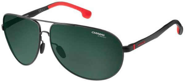 46c45daa88 Gafas de Sol Carrera CARRERA 8023/S 003 (UC) MATTE BLACK // GREEN ...