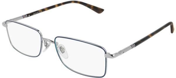36b8dafd11 Monturas - Gucci - GG0391O - 004 Calibre53 SILVER BLUE HAVANA