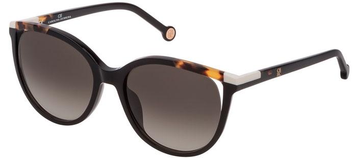 cb596e1e73 Gafas de Sol - Carolina Herrera - SHE822 - 0700 SHINY BLACK // GREEN POWDER