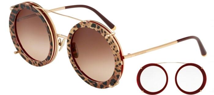 8e8f356a4db0f DG2198 - 131813. GOLD BORDEAUX LEO    BROWN GRADIENT. Gafas de Sol - Dolce    Gabbana ...