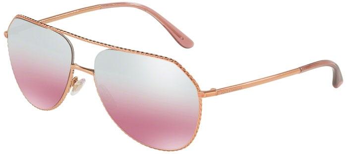 6666d9bd51 Sunglasses - Dolce & Gabbana - DG2191 - 12987E PINK GOLD // PINK MIRROR  SILVER