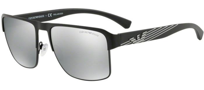 MATTE BLACK    GREY MIRROR SILVER POLARIZED. Gafas de Sol - Emporio Armani  ... d7ab1b88f790