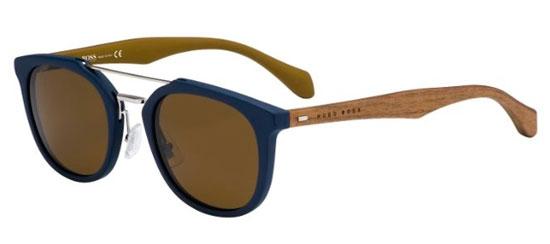 2d3600c86855d Lunettes de soleil Hugo Boss (BOSS) BOSS 0777 S RBF (EC) BLUE BROWN ...
