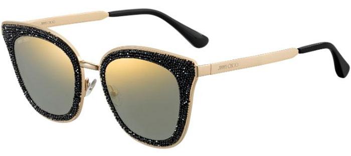8d6cb4dce1b8a Gafas de Sol Jimmy Choo LIZZY S 2M2 (K1) BLACK GOLD    GOLD MIRROR
