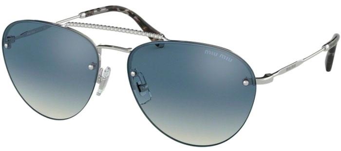 88f859de57 Gafas de Sol - Miu Miu - SMU 54US - 1BC3A0 SILVER // GREY BLUE GRADIENT  SILVER MIRROR