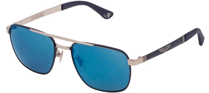 5b4acadfaf Gafas de Sol - Police - SPL890 - F94B MATTE BLUE SHINY PALLADIUM // SMOKE