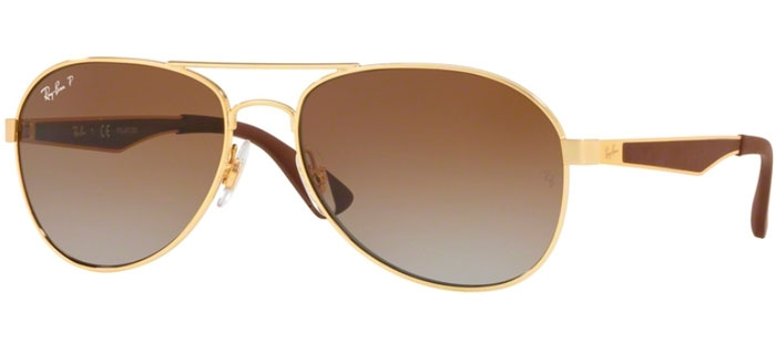 a9ecac7a609 Sunglasses - Ray-Ban RB3549 - 001 T5 GOLD    CLEAR GRADIENT GREEN ...