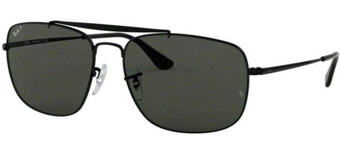 a848365fb0 Sunglasses Ray-Ban RB3560 THE COLONEL - 002 58 BLACK    GREEN POLARIZED