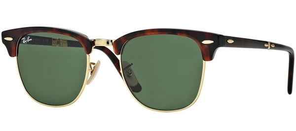 d87d983683b Sunglasses - Ray-Ban - Ray-Ban RB2176 CLUBMASTER FOLDING - 990 RED HAVANA