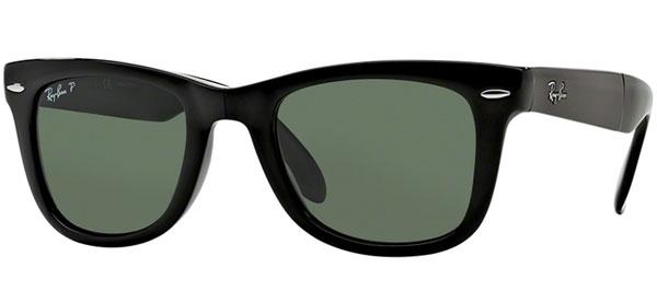 0c0b2c8267a02 Gafas de Sol RayBan RB4105 FOLDING WAYFARER 601 58 BLACK    CRYSTAL ...
