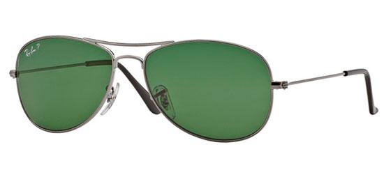 25c7afa92fc854 Gafas de Sol RayBan RB3362 COCKPIT 004 58 GUNMETAL    CRYSTAL GREEN ...