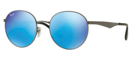 943970ba61 GUNMETAL    GREEN MIRROR BLUE. Sunglasses - Ray-Ban® - Ray-Ban® RB3537 - 004  55