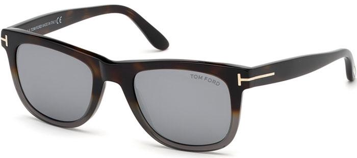 03d44eadf6 Gafas de Sol Tom Ford LEO FT0336 55C havana colorada / gris espejado