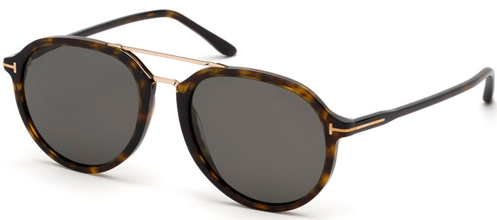 3a79f03f3c Gafas de Sol Tom Ford RUPERT FT0674 52D DARK HAVANA // GREY POLARIZED
