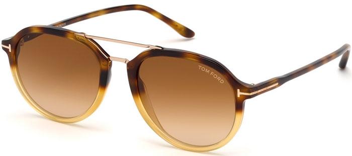 4a79882f13 Gafas de Sol Tom Ford RUPERT FT0674 56F HAVANA CARAMEL // BROWN GRADIENT