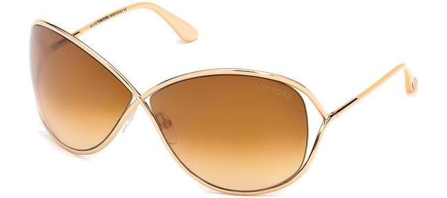 Lunettes de soleil - Tom Ford - MIRANDA FT0130 - 28F SHINY GOLD    BROWN  GRADIENT 77b850073a4b