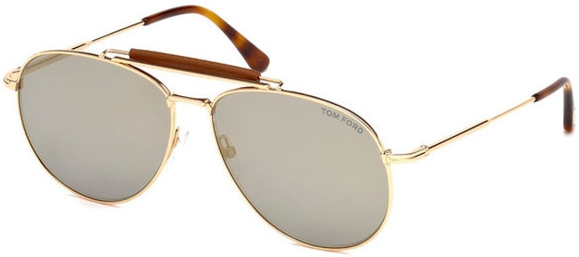 0e2930b5de Gafas de Sol Tom Ford SEAN FT0536 28C SHINY GOLD // GREY MIRROR