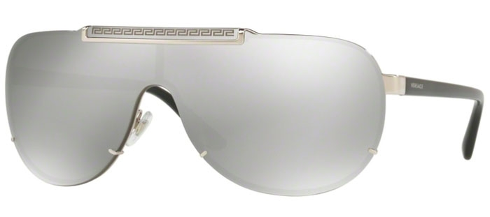 f384e910af919 Gafas de Sol - Versace - VE2140 - 10006G SILVER    LIGHT GREY MIRROR SILVER